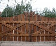 brama wjazdowa na okuciach kowalskich z rzeźbieniem 2