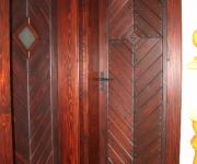 drzwi wewnętrzne rustykalne - jodełka