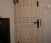 drzwi wewnętrzne szczotkowane - bielone