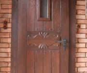 dębowe drzwi rustykalne łazienkowe