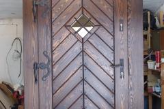 drzwi drewniane klasyczne - jodełka
