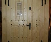 sosnowe drzwi rustykalne dwuskrzydlowe